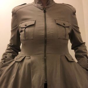 Trench Military style coat with flair and detail!!
